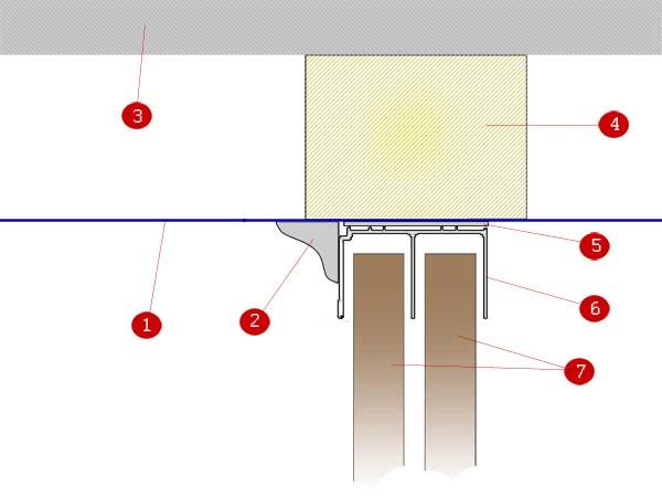 Шкаф-купе и натяжной потолок